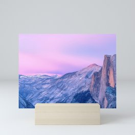 Magnificent Mountain Range And Valley At Romantic Sunset Purple Shade Ultra HD Mini Art Print