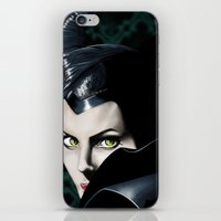 maleficent iPhone & iPod Skins featuring Maleficent by Tish