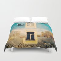 russian Duvet Covers featuring Russian mural by Rick Onorato