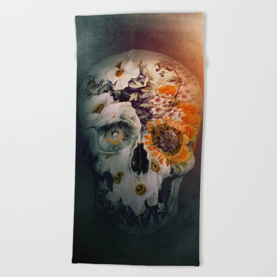 Skull Still Life II Beach Towel