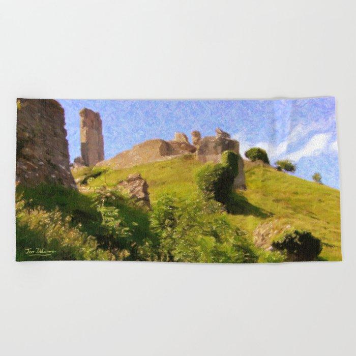 Corfe Castle Beach Towel