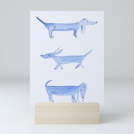 The Blue Dachshund Mini Art Print