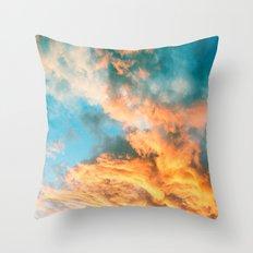 Blue Sunset Clouds  Throw Pillow