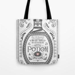 Legend of Zelda Red Potion Vintage Hyrule Line Work Letterpress Tote Bag