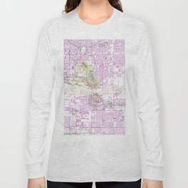 Vintage Map of Tempe Arizona (1952) Long Sleeve T-shirt