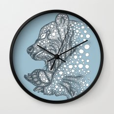 Winter sleep Wall Clock