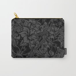 Snaky Fleur, Black and Grey Carry-All Pouch