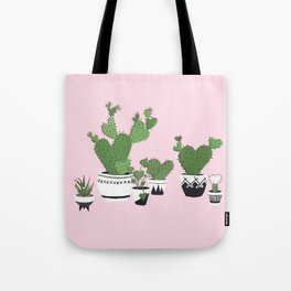 Cactus Love (in pink) Tote Bag