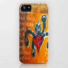 Severed Heart Strings, Sacred Art  iPhone Case