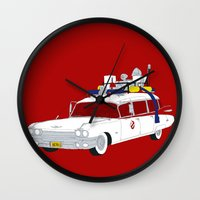 ghostbusters Wall Clocks featuring Ghostbusters by Martin Lucas