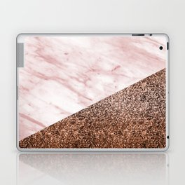 Golden age - elegant pink marble Laptop & iPad Skin