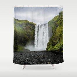 Skogafoss Waterfall Iceland Shower Curtain