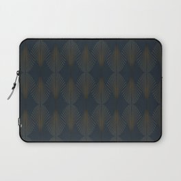 Art Deco Gold/Navy Pattern II Laptop Sleeve