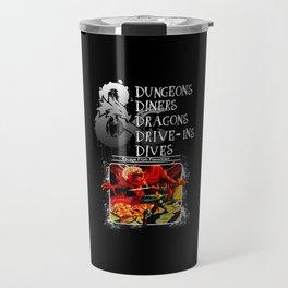 Dungeons & Dragons Stylized Travel Mug