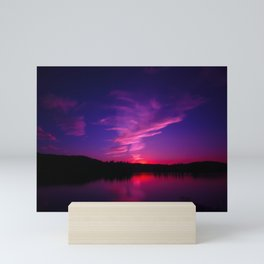 Purple Sunset in Montana Mini Art Print