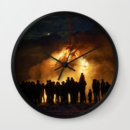 Easter full moon - the winter is over Wall Clock