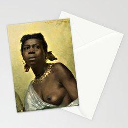 12,000pixel-500dpi - Anna Bilinska-Bohdanowicz - A Negress, Murzynka - Digital Remaster Stationery Cards