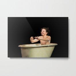 Eric Andre In A Bath Tub Metal Print