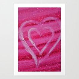 DANCING HEART Art Print