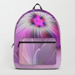 Abstract Flower With Pink And Purple Fractal Backpack