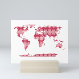 Shibori Map of World 10 Mini Art Print