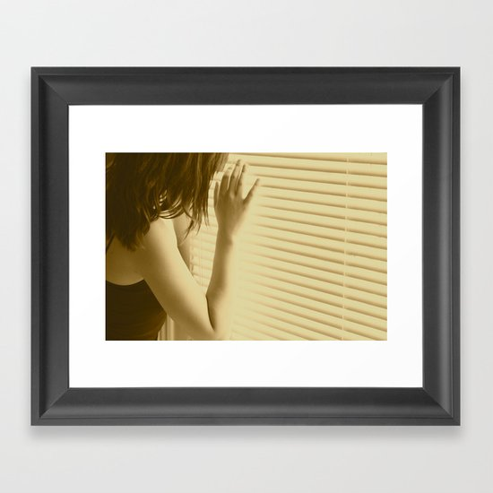 and I waited Framed Art Print