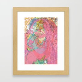 Head in Outer space Framed Art Print