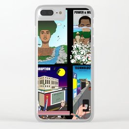 The Evolution of American Slavery (Collage) Clear iPhone Case