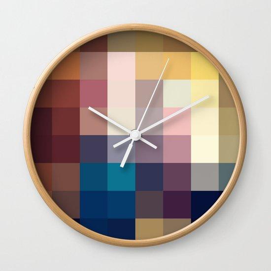 Nature Pixels No 3 Wall Clock