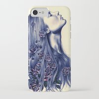 calm iPhone & iPod Cases featuring Bloom by KatePowellArt