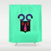 lsd Shower Curtains featuring LSD: Dream Emulator Character B10 by G.D.D.E