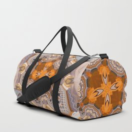 Abstract autumn with artistic mushrooms Duffle Bag