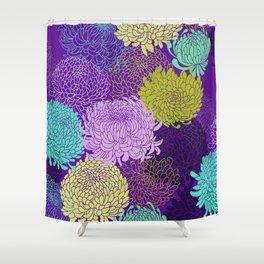Chrysanthemum blossom Shower Curtain