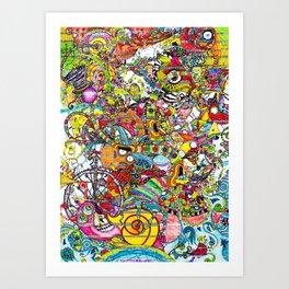 Illustration Bomb Art Print