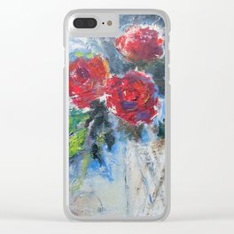 Roses in Rouge Clear iPhone Case