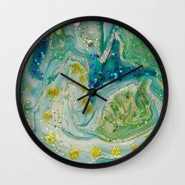 Palladian Blue Green Acrylic Painting Wall Clock