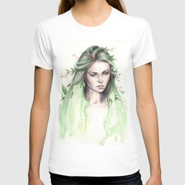 """Terra"" Earth spirit Watercolour portrait T-shirt"