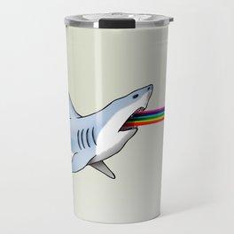 Rainbow Shark Travel Mug