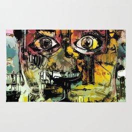 Lion Eyes Abstract Human Animal Illustration Rug