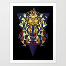 Golden Tutankhamun - Pharaoh's Mask Art Print