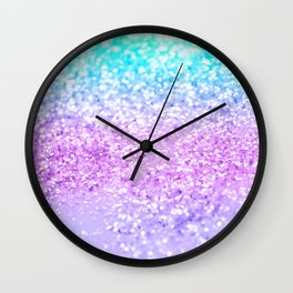 Unicorn Girls Glitter #9 #shiny #decor #art #society6 Wall Clock