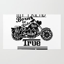 True Freedom - Road is my friend Motorbike Rug