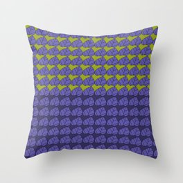 Leafdesignplgrnpat Throw Pillow