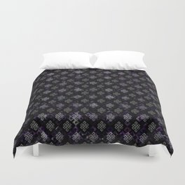 Endless Knot pattern - Silver and Amethyst Duvet Cover