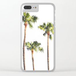 Minimal Palm Trees Threesome Clear iPhone Case