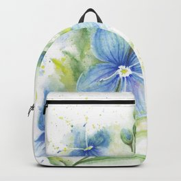 Veronica, Floral Watercolor Backpack
