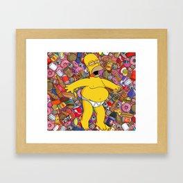 HOMER-DRUNK Framed Art Print