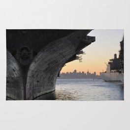 Aircraft carrier Hornet San Francisco Rug
