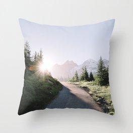 Morning Hike Throw Pillow