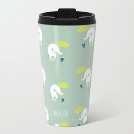 Rainy Elephant Travel Mug